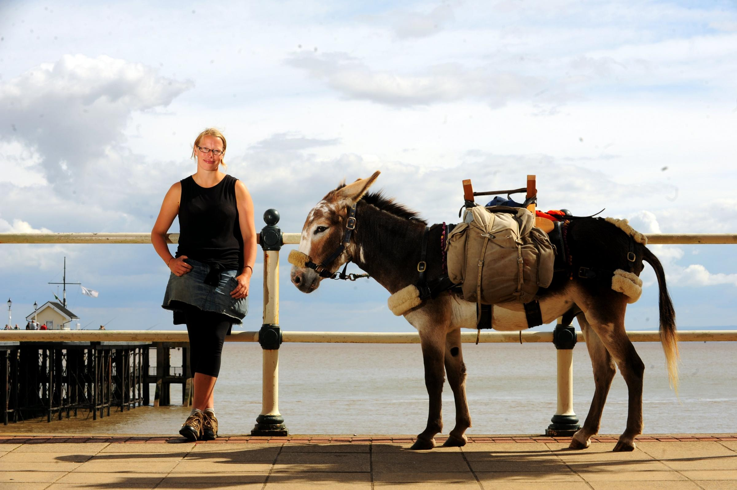 Hannah Engelkamp, whose own walk around Wales was accompanied by a donkey called Chico