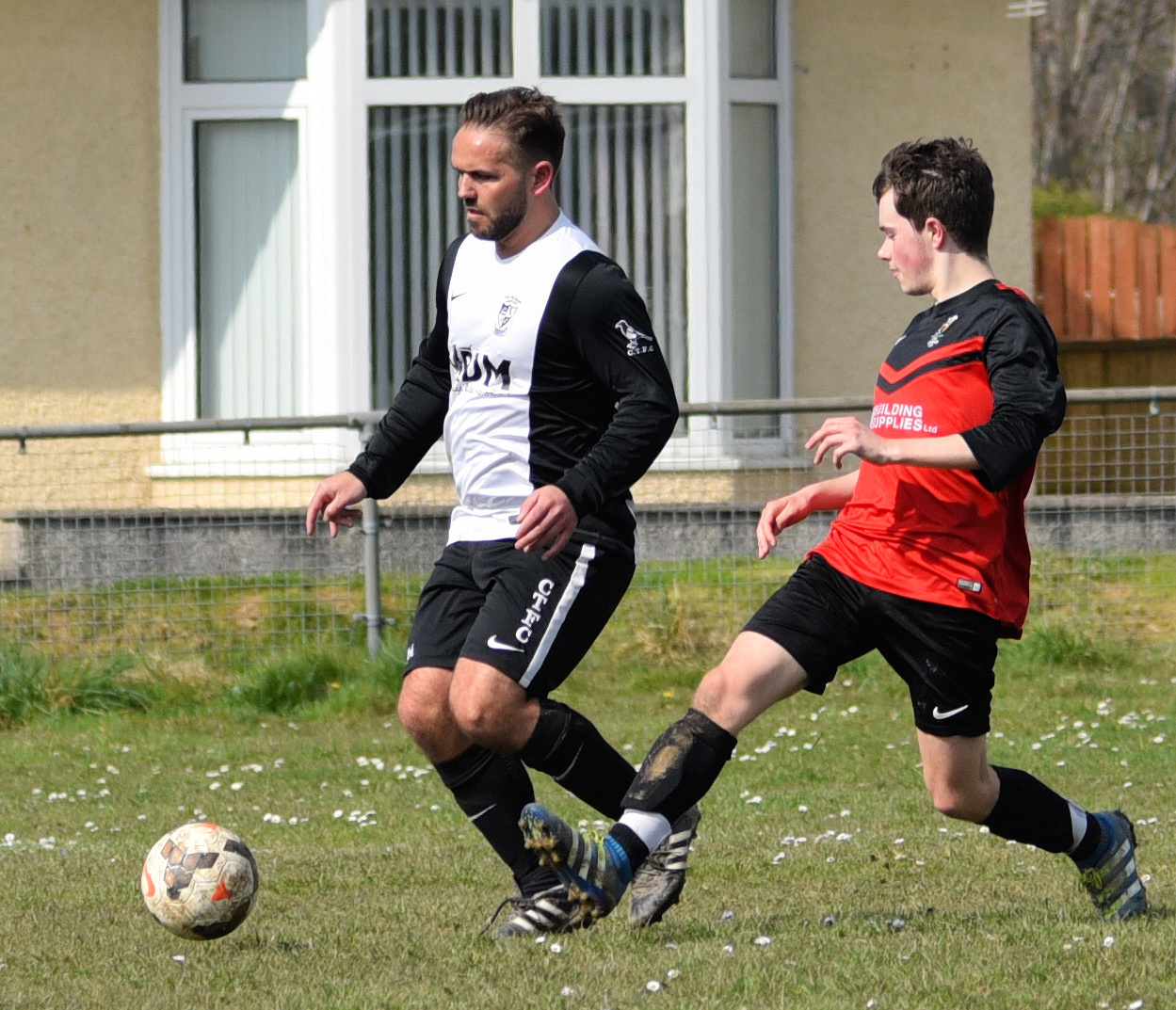 Barry Morgan in action for the Magpies in their 6-1 win over Llanboidy in the quarter finals of the Cwpan Coffa Dai Dynamo Davies PICTURE: Julie John