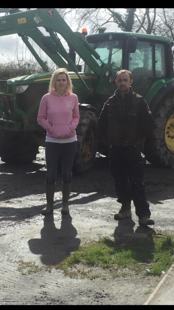 Hefin Owen and his wife Lucy on their farm
