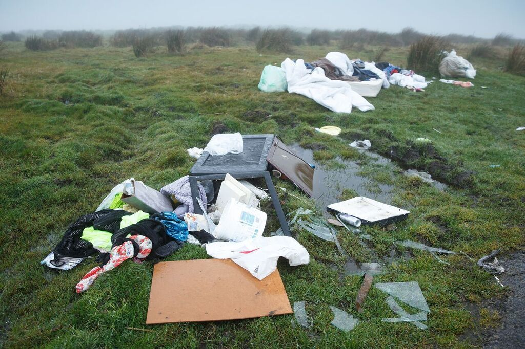Walkers are being urged to join the fight against fly-tipping. PICTURE: Fly-tipping Action Wales