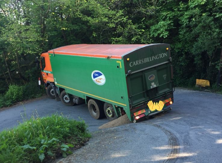 The stricken lorry. PICTURE: Ceredigion Roads Policing Unit