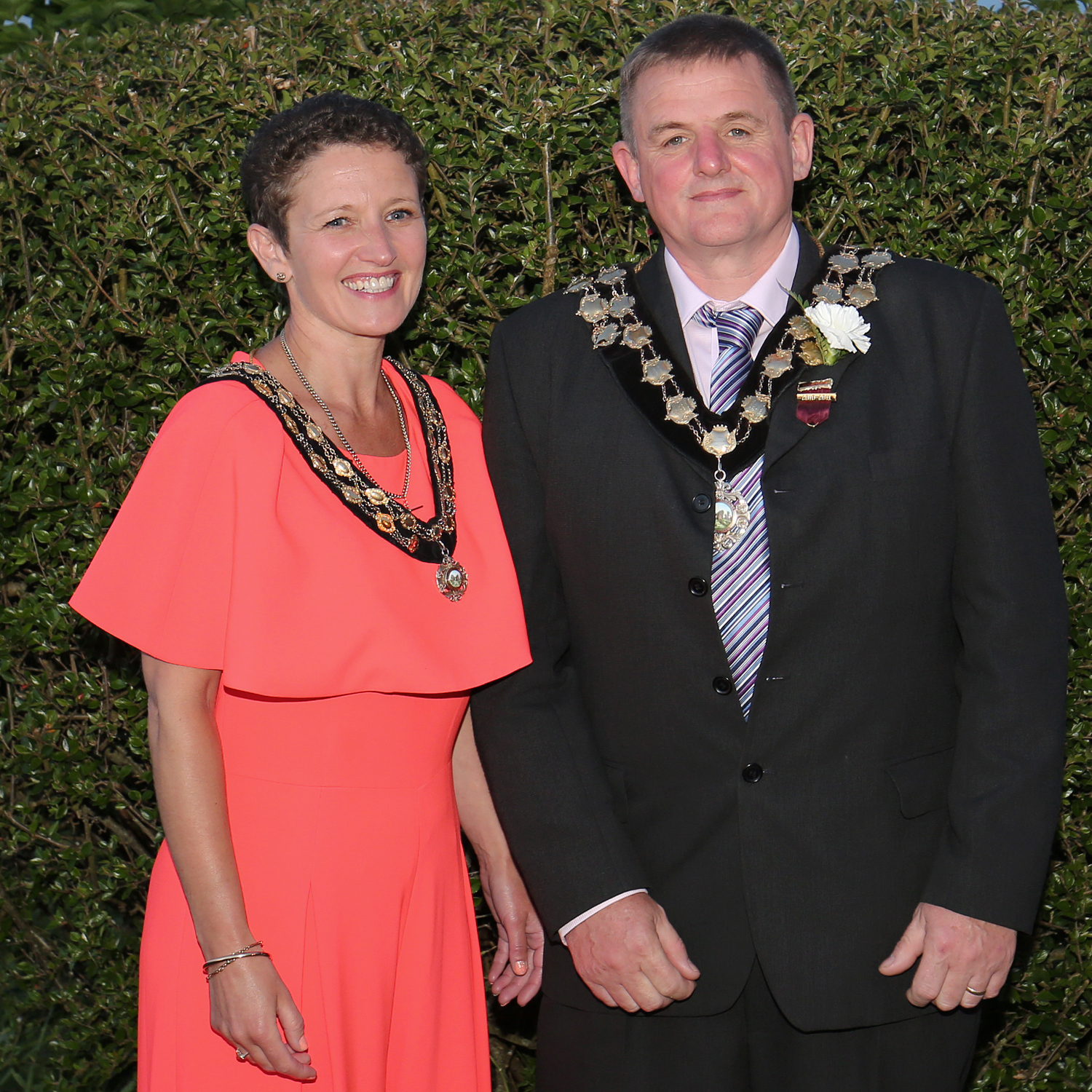 The new Newcastle Emlyn Mayor and Mayoress Cefin and Anwen Evans. PICTURE: Barry Adams