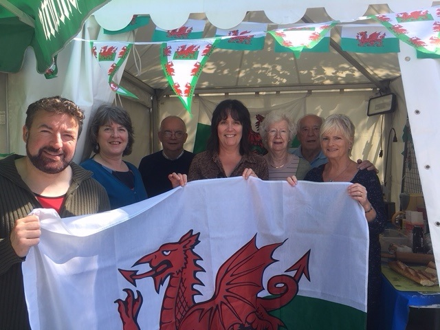 Members of the twinning committee at their stand promoting Cardigan at the Faire Expo
