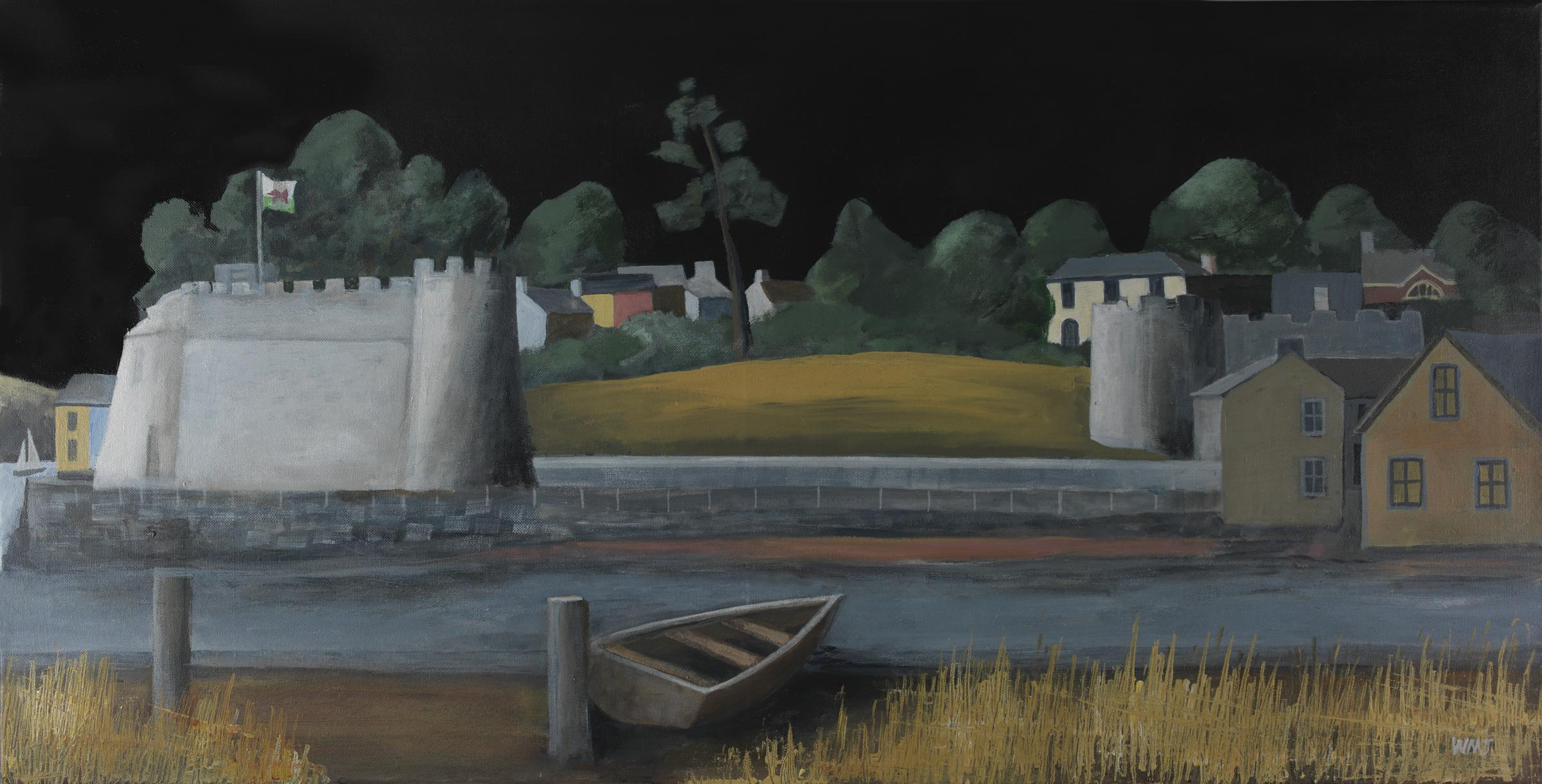 Wynne Melville Jones' painting of Cardigan Castle where the first eisteddfod was held in 1176