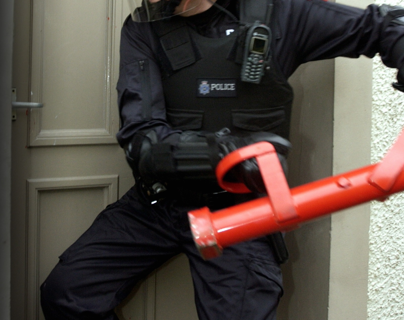 Police carried out two drugs raids in the Cardigan area yesterday