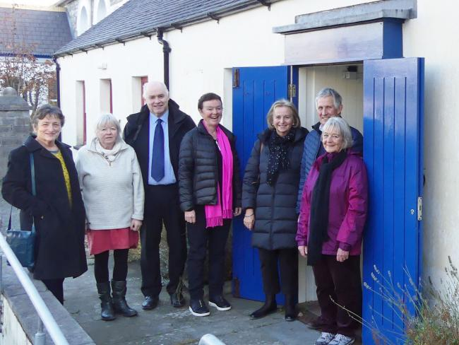 The Community Asset Transfer will see a visitor centre and library run by volunteers under one roof in Newport. Pictured are Kathy Bezinski and Ros McGarry (Newport Community Library Group); County Councillor Paul Harries, Vice Chair of Newport Town Counc