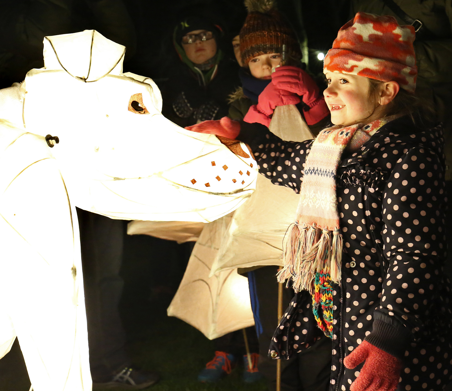 Giant Winter Lantern Parade 2017 in Cardigan. PICTURE: Barry Adams