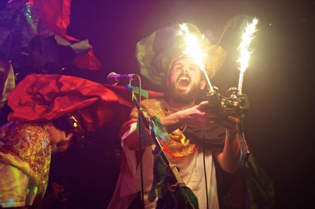 King Lagoons Flying Swordfish Dance Band are coming to Cardigan's Small World Theatre .