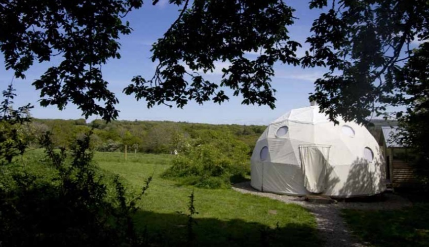 Glamping domes near Penbryn have been approved by Ceredigion planners
