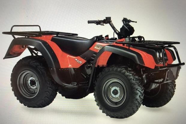 A Suzuki quad bike was stolen in Blaenffos recently. PICTURE: Stock picture.