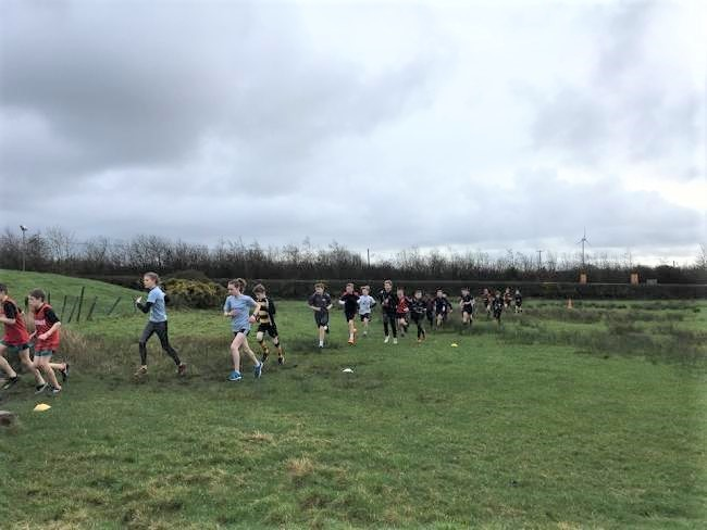 Schools' athletes taking park in the cross-country championships held at Oakwood Theme Park. PICTURE: Nathan Jones