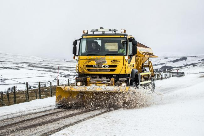 A gritter lorry at work (Danny Lawson/PA)