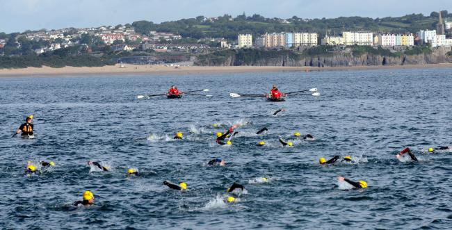 The 2019 Caldey Swim splashes out on Sunday. PICTURE: Gareth Davies Photography