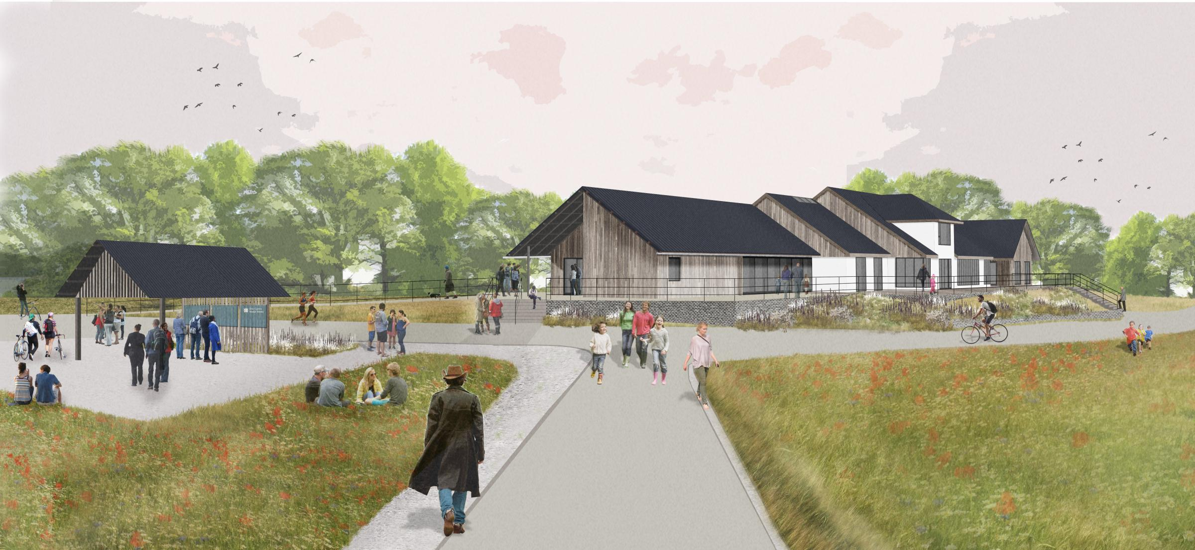 The artist's impression of the new visitor centre