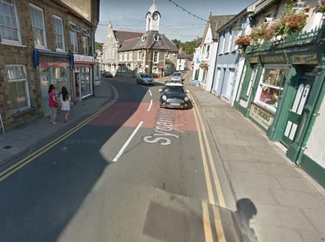 Pavements are being damaged by lorries and cars in Newcastle Emlyn, making them dangerous for pedestrians. PICTURE: Google Maps