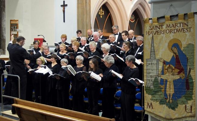 Cor Dyfed Choir will perform in St Clement's Church, Neyland on Saturday