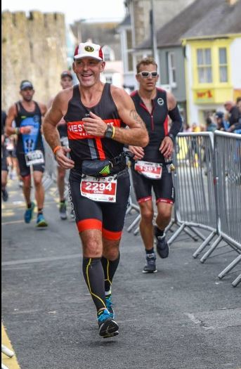 Clive Evans competing at last year's Tenby Ironman event. PICTURE: Elaine Evans