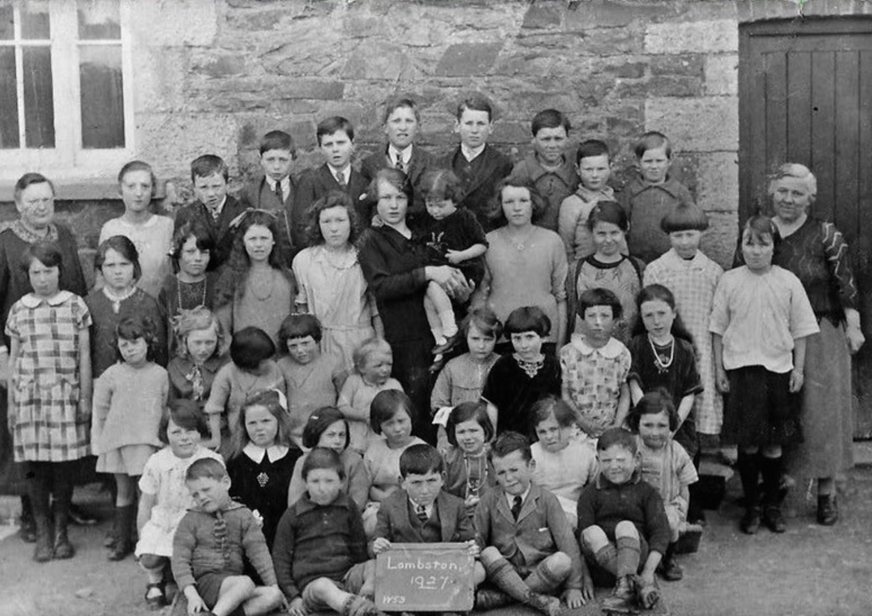 A photograph of a class from Lambston School in 1926.