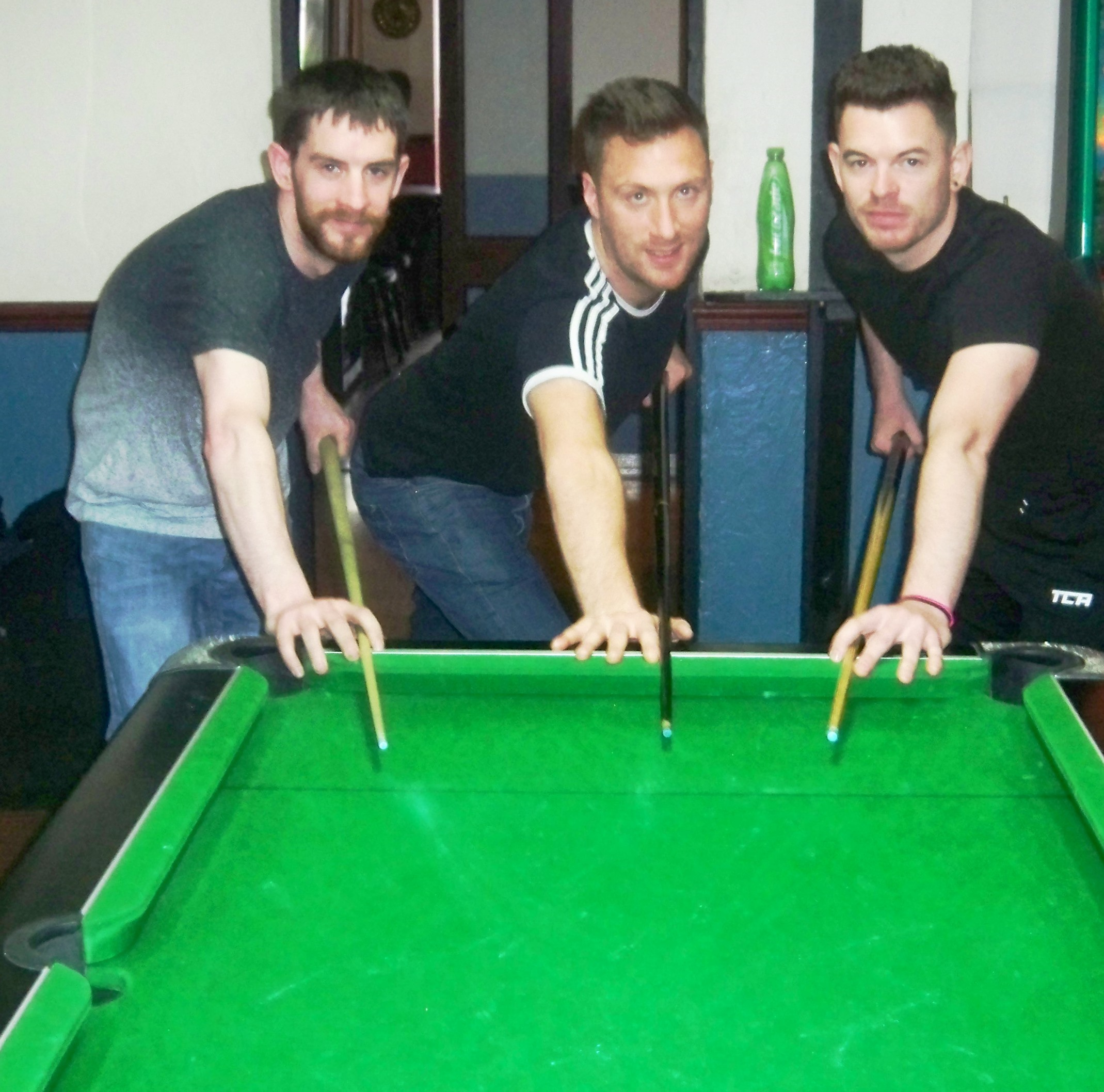 Eight-ball clearance aces - Gary Murtagh, Peter Almond and Chris Truslove