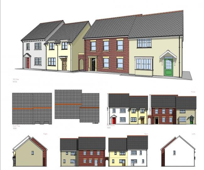 The design of some of the houses in the Crymych development.