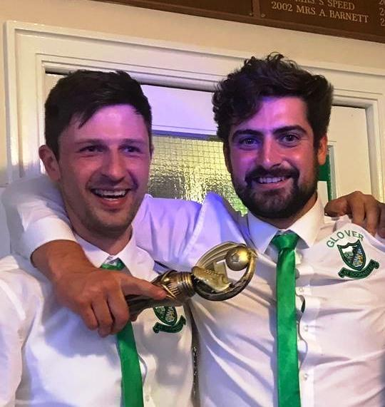 Joint winners of the First Team players' player-of-the-year defender Minda Mindugas (left) and captain Jason Williams